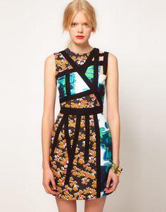 ASOS BLACK Strappy Dress In Print En otros colores, la idea esta súper!!!