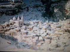 City of Jobran Khalil Jobran covered with snow. Beshary. Lebanon
