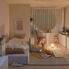 Room Design Bedroom, Room Ideas Bedroom, Home Room Design, Small Room Bedroom, Bedroom Decor, Korean Bedroom Ideas, Bedroom Bed, Small Room Decor, Small Room Design