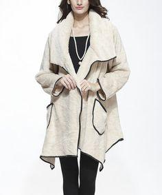 This Beige Textured Open Cardigan - Women is perfect! #zulilyfinds