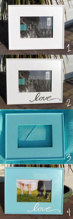Easy Love Frame | DIY Cricut Crafts & Ideas | Fun and Cute Projects for Kids and Adults by DIY Ready at http://diyready.com/diy-cricut-crafts/
