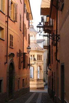 Street in Acqui Terme.