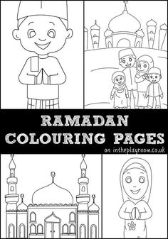 ramadan colouring pages featuring muslim children, muslim family and mosque colouring pages. Eid Activities, Color Activities, Iftar, Decoraciones Ramadan, Ramadan Gifts, Ramadan 2016, Ramadan Mubarak, Eid Crafts, Islam For Kids