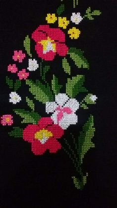 Cross Stitch Art, Hand Embroidery, Projects To Try, Pattern, Cross Stitch Embroidery, Towels, Dibujo, Table Runners, Roses