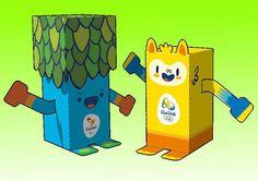 Rio 2016 Brazilian Olympic Mascots Free Paper Toys Download - http://www.papercraftsquare.com/rio-2016-brazilian-olympic-mascots-free-paper-toys-download.html#2016, #Mascot, #Olympic, #Rio2016, #Tom, #Vinicius