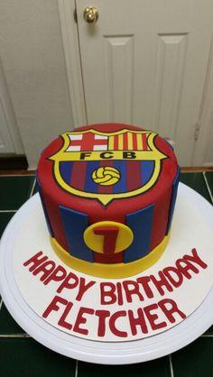 Amy's Crazy Cakes - Barcelona Soccer Cake
