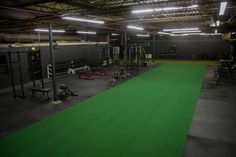 Sky View of the expanded gym.  from 2,000 square feet to 6,000 square feet of renovated warehouse space.