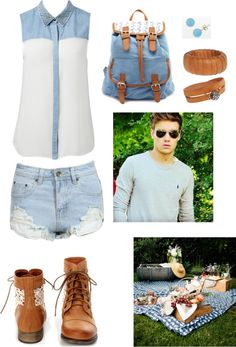"""""""Picnic with Liam"""" by itzelfuentes ❤ liked on Polyvore"""