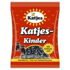 Katjes Kinder Licorice Cat-shaped Drops 200g Licorice Pieces (Pack of 3)