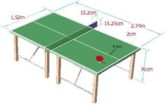 Ping Pong Table Diy, Beer Pong Tables, Diy Table, Table Tennis Board, Table Tennis Game, Diy Home Furniture, Iron Furniture, Agave Bar, Diy Cnc Router