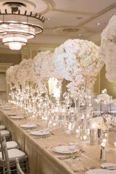 Wedding reception centerpiece idea; Featured Photographer: Greer Gattuso Photography