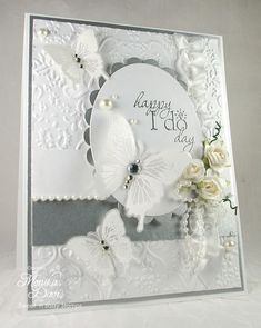 #SU Wedding Card with vellum butterflies
