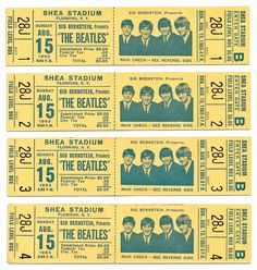 20 Beatles Ticket Stubs Ideas The Beatles Concert Posters Concert Tickets