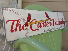 Baseball Themed Family Name Sign... I will have this after I'm married!