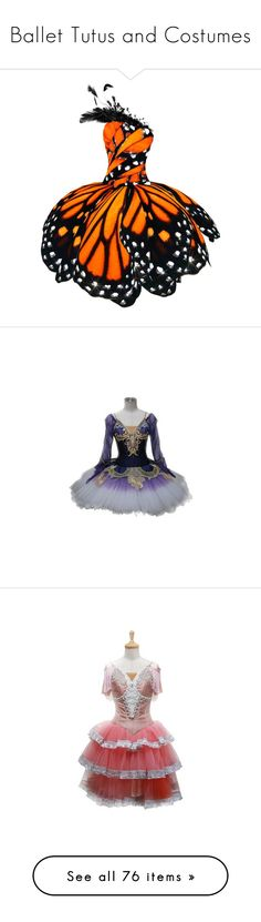 """Ballet Tutus and Costumes"" by tempest-in-a-teapot ❤ liked on Polyvore featuring costumes, dresses, ballerina costume, ballerina halloween costume, ballet costumes, butterfly costume, monarch butterfly costume, ballet, costume and dance"