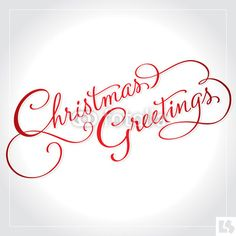 Vector: christmas greetings hand lettering (vector) #download #stock #StockImages #microstock #royaltyfree #vectors #calligraphy #HandLettering #lettering #design #letterstock #silhouette #decor #printable #printables #craft #diy #card #cards #label #tag #sign #vintage #typography