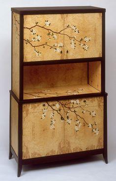 Craig Thibodeau - Dogwood Marquetry Cabinet