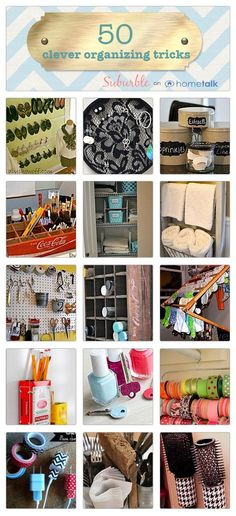 50 Clever Organizing Tricks