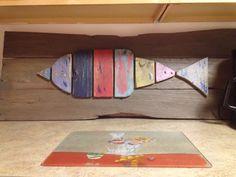 Fun reclaimed wood fish abstract