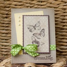Love the white ink background stamp on craft with the butterflies stamped over.
