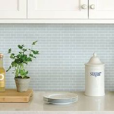 InHome Sea Glass Peel and Stick Backsplash Tiles at Lowe's. These peel and stick tile panels are a great way to makeover your kitchen or bathroom! The by panels are perfect for redoing a backsplash, Self Adhesive Backsplash Tiles, Peel Stick Backsplash, Peel And Stick Tile, Stick On Tiles, Backsplash Ideas, Tile Ideas, Sticky Tile Backsplash, Peel And Stick Countertop, Penny Backsplash