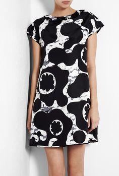 ..Silk Print T-Shirt Dress by See By Chloe..