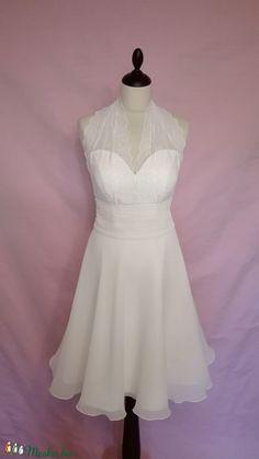Marylin Monroe jellegű menyasszonyiruha (nicoledesign) - Meska.hu Marylin Monroe, White Dress, Dresses, Fashion, Vestidos, Moda, Fashion Styles, Dress, Marilyn Monroe