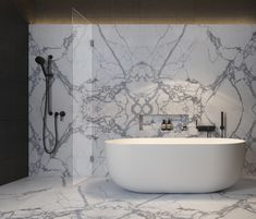 White or neutral colours mixed with natural materials of stone, marble and wood are strong components in design.
