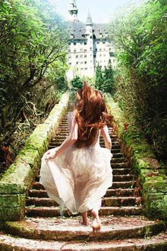 Image result for beautiful flowing dress fairy running walking away