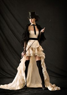Monsieur Steampunk One - I love the skirt and hat, though the rest of it reminds me more of burlesque than steampunk.