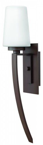 Hinkley Lighting 2144KZ Ellis Outdoor Sconce by Hinkley. $64.43. Size:27h x 5.5w, Finish:Buckeye Bronze, Glass:Etched Opal, Light Bulb:(1)100w A19 Med F Incand  Ellis Outdoor Wall Sconce. Save 76%!