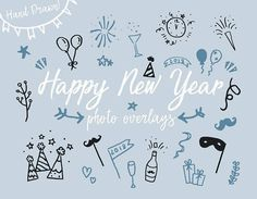 Happy New Year Clip art photo overlays 2018 Clipart New