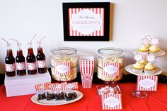 Movie Theme Party Package - Birthday Party or Shower Movie Night Party - PRINTABLE - Personalized.