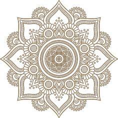Mandala Sisustustarra - Tenstickers