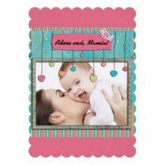 Cartão para mamae, no layout205 convite personalizado........ #gatalua #zazzle