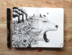 Most+People+Doodle+When+They're+Bored,+But+What+This+Artist+Does+With+His+Doodles+Is+Mind+Blowing  http://www.wimp.com/artistdoodles/