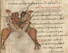 Spanish Cavalry, Psalter of San Millan de la Cogolla, 11th century AD Biblioteca da la Real Academia de la Historia, Madrid