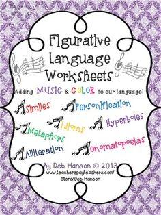 Song Lyrics and Figurative Language Mini-Books Common Core Bundle ...