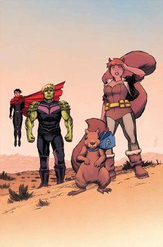 New Avengers Marvel Comics 2015 Squirrel Girl Marvel Avengers, Marvel Comics, Ms Marvel, Marvel Saga, Avengers 2015, Young Avengers, Marvel Heroes, Captain Marvel, Comic Book Characters