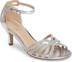 pink paradox London Women's Shoes in Silver Color. A glitter-encrusted  finish accentuates the