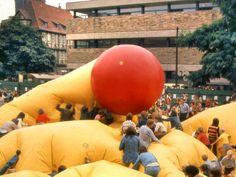 HANNOVER Altstadt * 1970 Aktion auf dem Altstadtfest vor dem historischen Museum