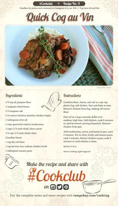 #Cookclub recipe no. 9: Quick Coq au Vin