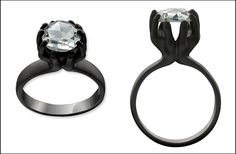 most popular engagement rings of 2011 black ring eco friendly diamond
