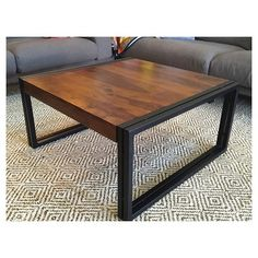 Reclaimed Solid Seesham Wood Coffee Table - (16H x 48W x 32D) - Natural - Timbergirl