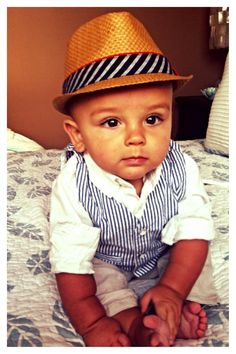 dda1c4819c5 Pretttttty sure he s the best thing I ve ever created. Beautiful baby boy  hat