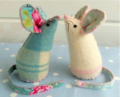 Mouse Pin Cushion Pattern Also weight them down to make door stoppers!