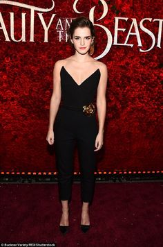 Belle of the ball! Emma Watson showcased her own edgy style as she stepped out at the prem...