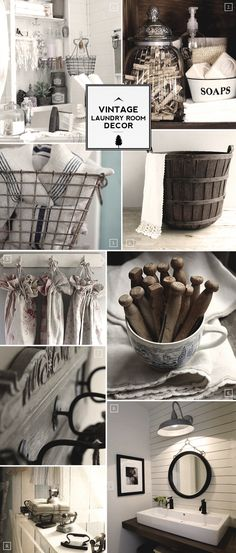 Vintage Laundry Room Decor