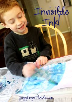 Invisible Ink!  Kids can write secret messages to each other and reveal them with food coloring/water.  It's lots of fun!