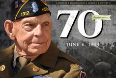 D Day 70th Anniversary June 6, 2014.  My paternal grandfather drove a landing boat on D Day in Normandy.  When he came back from the war, he was silent for over a year - he couldn't verbalize or process all of the horrors he had witnessed during the war.  My grandfather was my heart and is my hero.  He is in Heaven now and I will see him again.  :-)